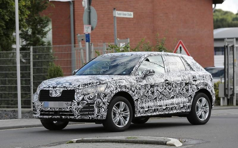 Audi Q2 2016: the style of the small SUV Audi sharpens and becomes clearer