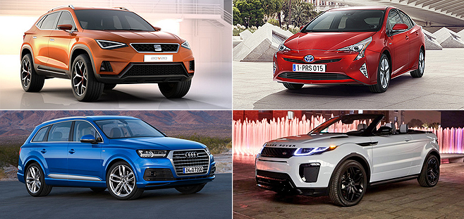 new 2016 cars coming out: Models and most important developments