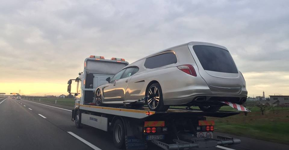 New Porsche Panamera Hearse Spotted
