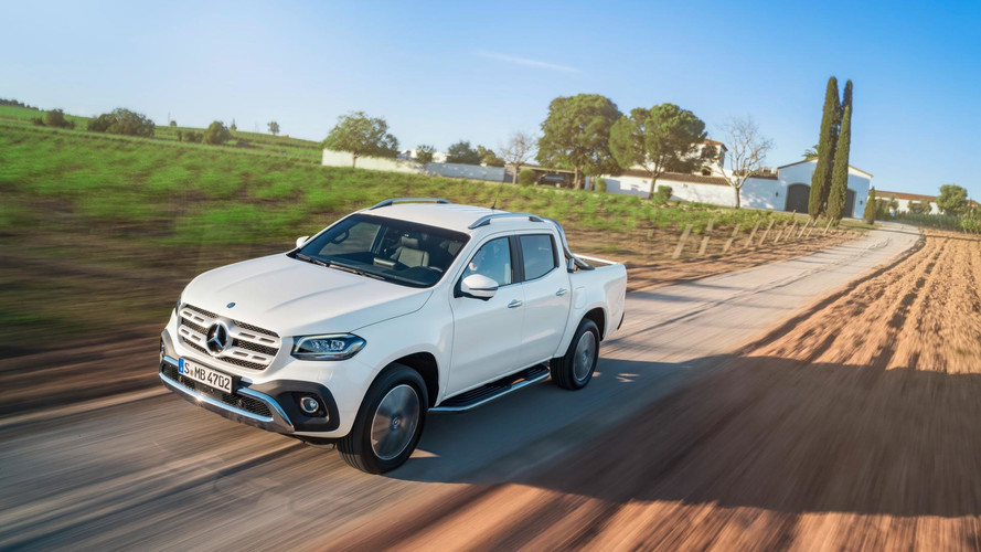 018 Mercedes X-Class Pickup Debuts With 190HP, Off-Road Chops It's the upscale pickup you never knew you needed