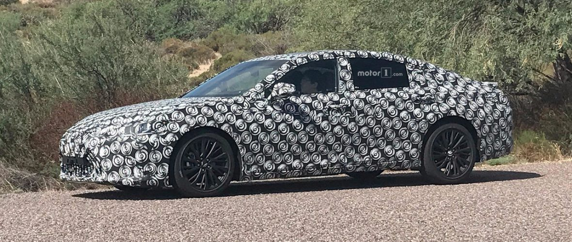 2019 Lexus ES Spied In The Desert With Mercedes, Audi Rivals