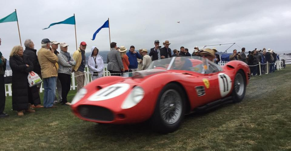 Dawn Patrol at the Pebble Beach Concours 2017. All the cars, in motion. So cool
