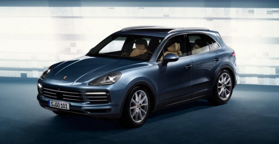 The new 2018 Porsche Cayenne takes flight