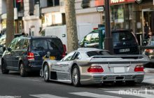 A Mercedes-Benz CLK GTR stationed in Paris