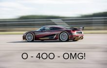 What if Koenigsegg beat Bugatti on 0-400-0 km / h?