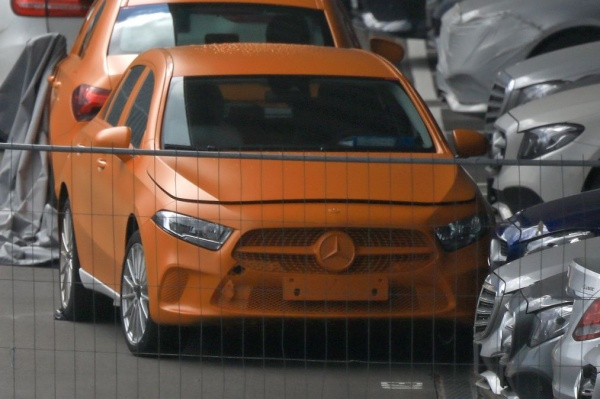 2018 Mercedes A-Class Spied Without Any Camouflage, Both the sedan and hatchback