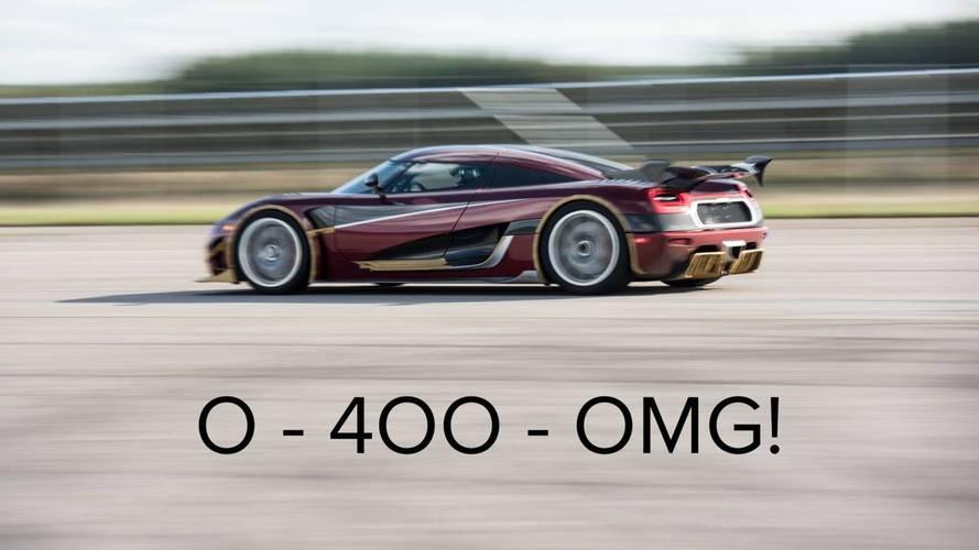 Koenigsegg improves his record of 0-400-0 km / h, Bugatti will appreciate