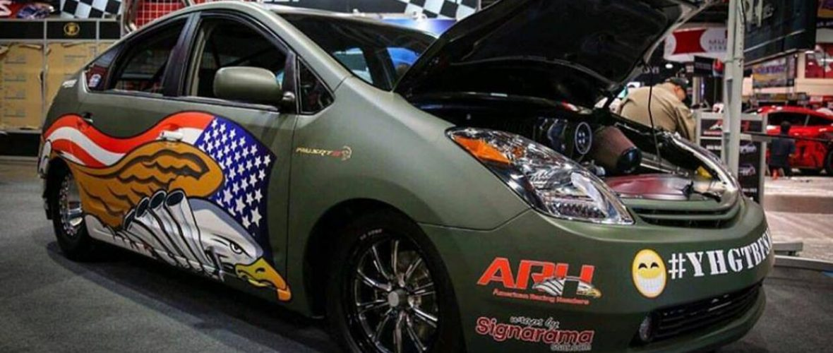 Toyota Prius with Hellcat engine, a madness with 1,000 HP