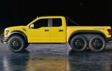 VelociRaptor 6 × 6 is an incredible Ford F-150 Raptor with six wheels