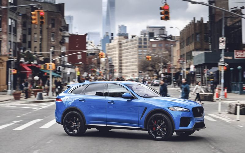 Reveal of the new Jaguar F-Pace SVR at NYIAS 2018