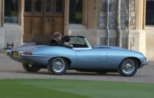 Silver Blue Jaguar E-Type Concept Zero at Royal Wedding
