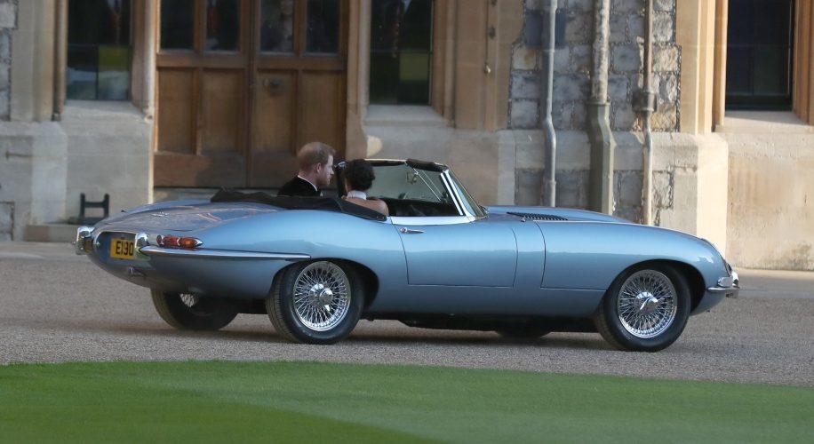 Silver Blue Jaguar E-Type Concept Zero at Royal Wedding