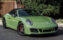 Porsche 911 Carrera GTS Cabrio : German sports car in an unprecedented olive green