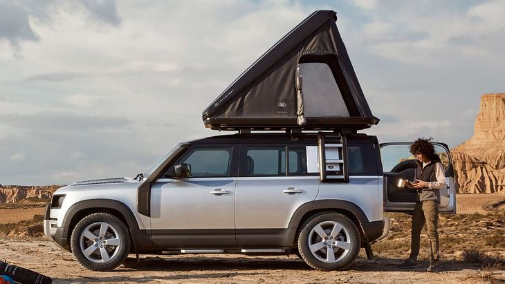 The new Defender may have a tent on the roof, but it's not cheap fun