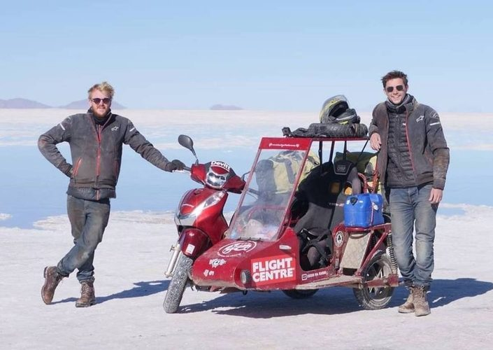 Sidecar Guys, Travel Around The World with Honda Scoopy SH300 sidecar