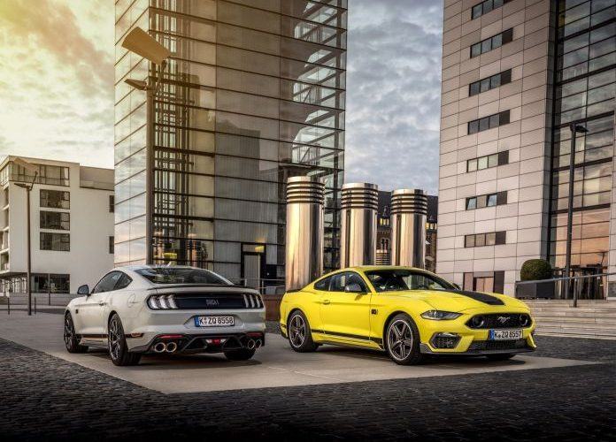 Ford removed the 2.3-liter engine from the Mustang. Available only with the V8