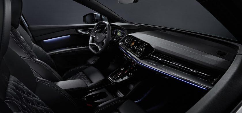 new 2021 Audi Q4 e-tron electric SUV interior
