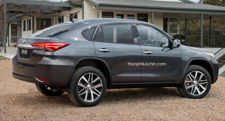 New Toyota Fortuner Revamped into a BMW X6-Like Coupe SUV