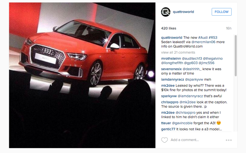2017 Audi RS3 confirmed