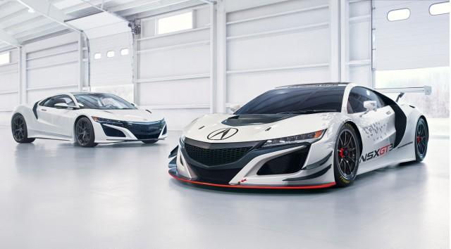 Acura NSX GT3 Race Car With Carbon fiber
