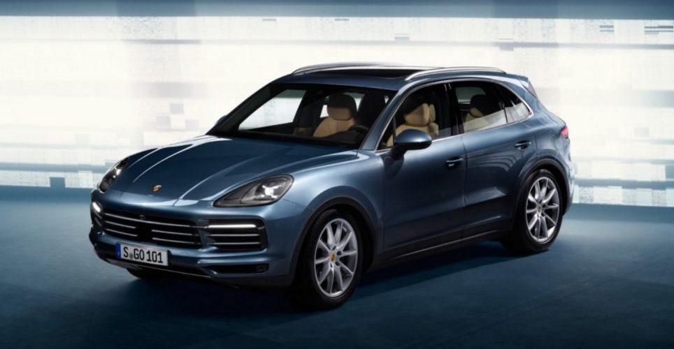The new 2018 Porsche Cayenne takes flight