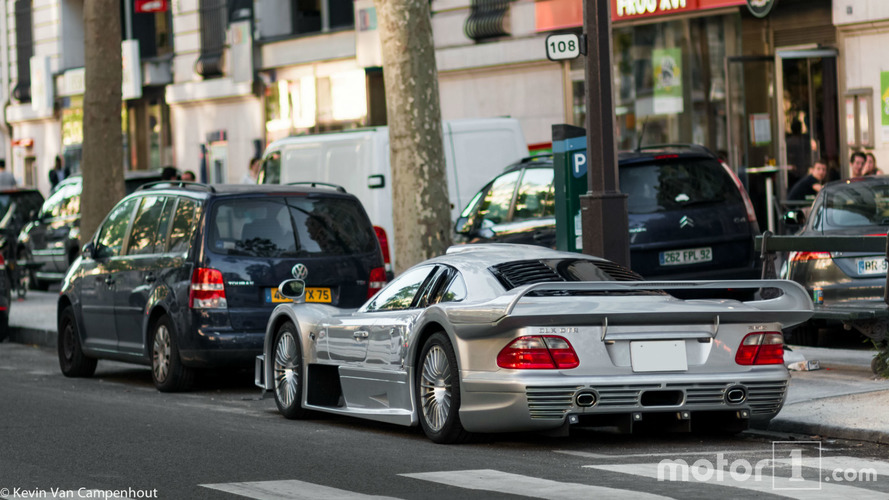 A Mercedes-Benz CLK GTR stationed in Paris