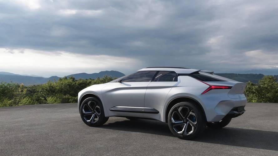 The Mitsubishi e-Evolution concept is shown in Tokyo