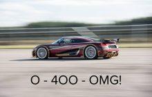 What if Koenigsegg beat Bugatti on 0-400-0 km / h?