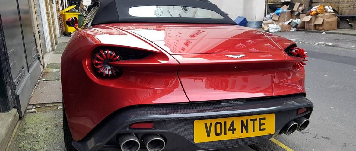 A splendid Vanquish Zagato Volante in London
