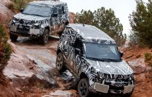 The new Land Rover Defender is discovered while finalizing its set-up.