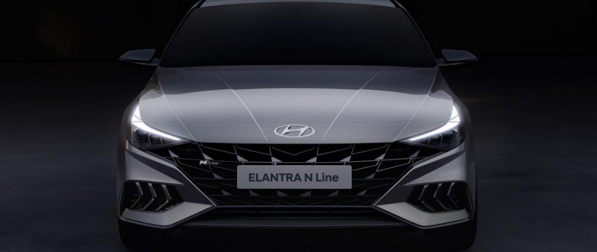 Hyundai partially unveils the Elantra N-Line 2021