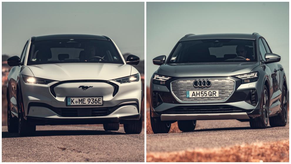 Audi Q4 e-tron 50 quattro vs. Ford Mustang Mach-E AWD